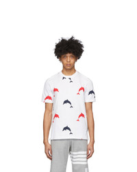 Thom Browne White Rbw All Over Dolphin Icon T Shirt