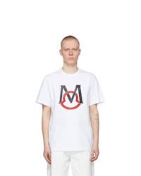 Moncler White Rubberized Print T Shirt