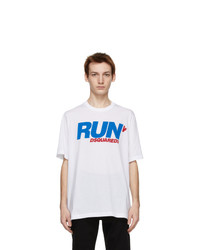 DSQUARED2 White Run Slouch T Shirt