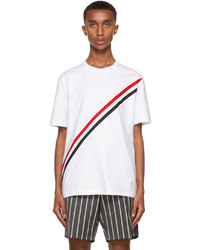 Thom Browne White Rwb Stripe T Shirt