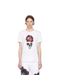 Alexander McQueen White Skull T Shirt