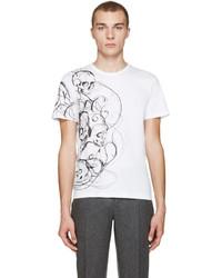 Alexander McQueen White Skulls And Lines T Shirt