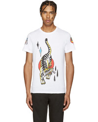 Diesel White T Diego Tattoo T Shirt