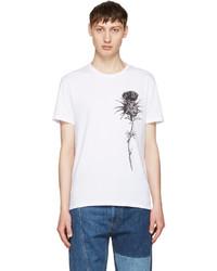 Alexander McQueen White Thistle T Shirt