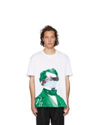 Valentino White Undercover Edition V Face Ufo Print T Shirt