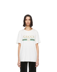 Gucci White Vintage Logo T Shirt