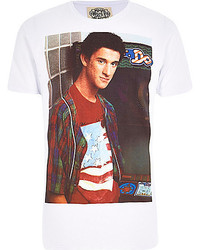 River Island White Worn By Guy Print T Shirt