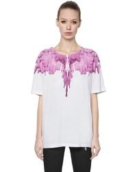 Marcelo Burlon County of Milan Wings Printed Cotton Jersey T Shirt