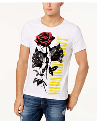 GUESS Wolf Rose Graphic Print T Shirt
