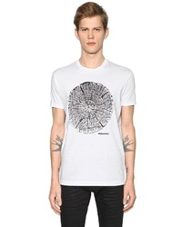 DSQUARED2 Wood Printed Cotton Jersey T Shirt