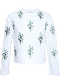 Carven cropped sweatshirt with snowdrop embroidery medium 222823