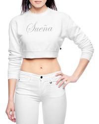 True religion joan smalls suena crop sweatshirt medium 222822