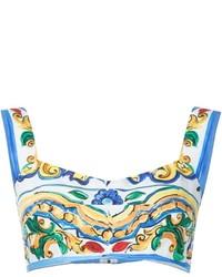 Dolce & Gabbana Majolica Print Bralet