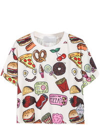 Choies Fast Food Print T Shirt In White