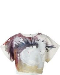 MSGM Painterly Print Top