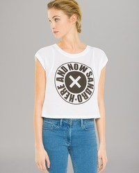 Sandro Top Typee Graphic Crop