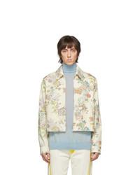 Lanvin Off White Denim Flower Fairy Jacket