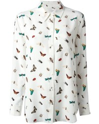 White Print Dress Shirt