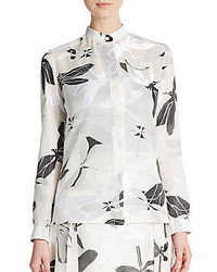 Aquilano rimondi dragonfly jacquard blouse medium 359013