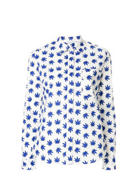 P.A.R.O.S.H. Leaf Print Tailored Shirt