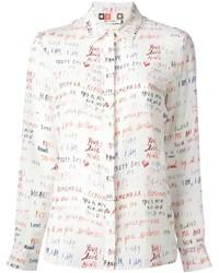 MSGM Scribble Print Shirt