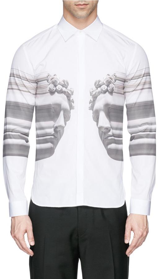 Neil barrett stretch sculpture print shirt where to buy for How to stretch a dress shirt