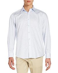 Robert Graham Regular Fit Printed Cotton Sportshirt