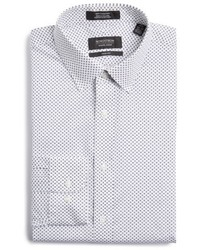 Shop trim fit print dress shirt medium 5360547