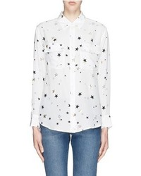 Equipment Signature Star Print Shirt
