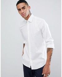 Esprit Slim Fit Smart Shirt With Dot Print