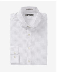 Express Slim Micro Dot Print Dress Shirt
