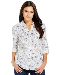Style&co. Style Co Wildflower Print Button Front Shirt