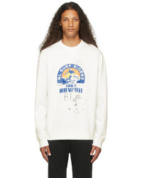 Polo Ralph Lauren White Fleece Graphic Sweatshirt