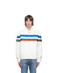 Gucci White Logo Stripe Jacket