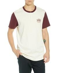 White Print Henley Shirt