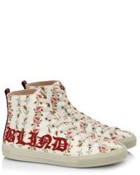 Gucci Major Romantic Print High Top Sneakers