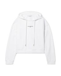 Stella McCartney Cropped Printed Organic Cotton Jersey Hoodie