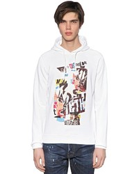 DSQUARED2 Hooded Collage Printed Cotton Sweatshirt
