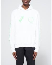 Mosco Print Hoodie In White