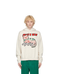 Gucci Off White Cat Logo Hoodie