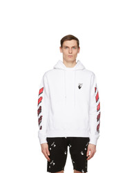 Off-White White And Red Slim Marker Hoodie