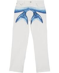 Burberry Mermaid Tail Printed Jeans
