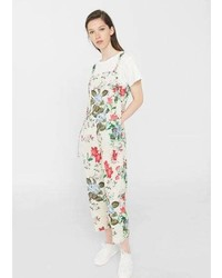 Mango Cotton Print Jumpsuit