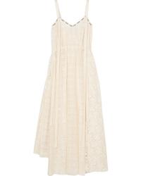 Loewe Cotton Blend Lace Midi Dress