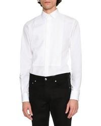Alexander McQueen Printed Bib Tuxedo Shirt White