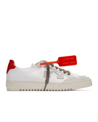 Off-White White And Red Low 20 Sneakers