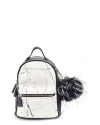 2379ff9674ca LIKE DREAMS Remy Marble Print Faux Leather Mini Backpack