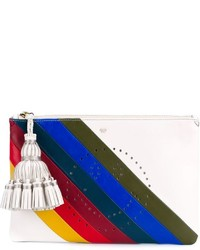Anya Hindmarch Georgiana Rainbow Striped Clutch