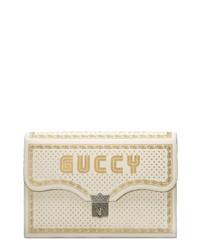 Gucci Guccy Logo Moon Stars Envelope Clutch