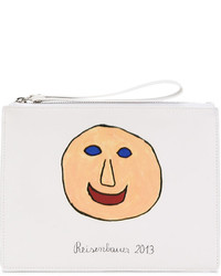 Printed face pencil case clutch medium 4413892